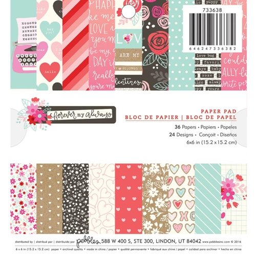 Pebbles 'Forever My Always' Paper Pack