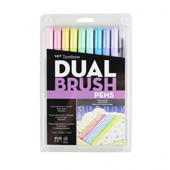 Tombow PASTEL Dual Brush Pens 10 Pack 56187