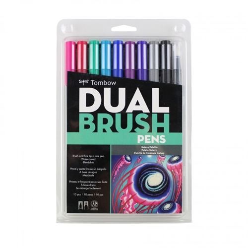 Tombow GALAXY Dual Brush Pens 10 Pack 56188 Preview Image