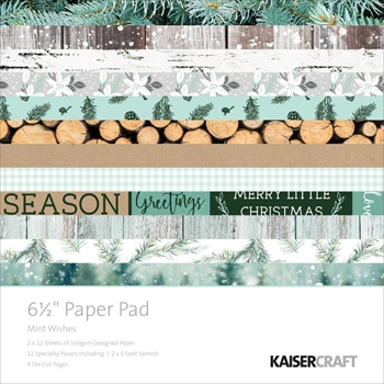 Kaisercraft MINT WISHES 6.5 X 6.5 Inch Paper Pad PP1029