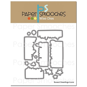 Paper Smooches BOXED GREETINGS ICONS Wise Dies OCD408*