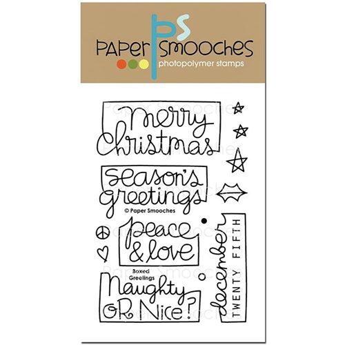 Paper Smooches BOXED GREETINGS Clear Stamps OCS296* Preview Image