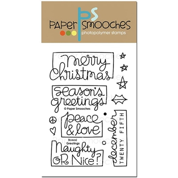 Paper Smooches BOXED GREETINGS Clear Stamps OCS296