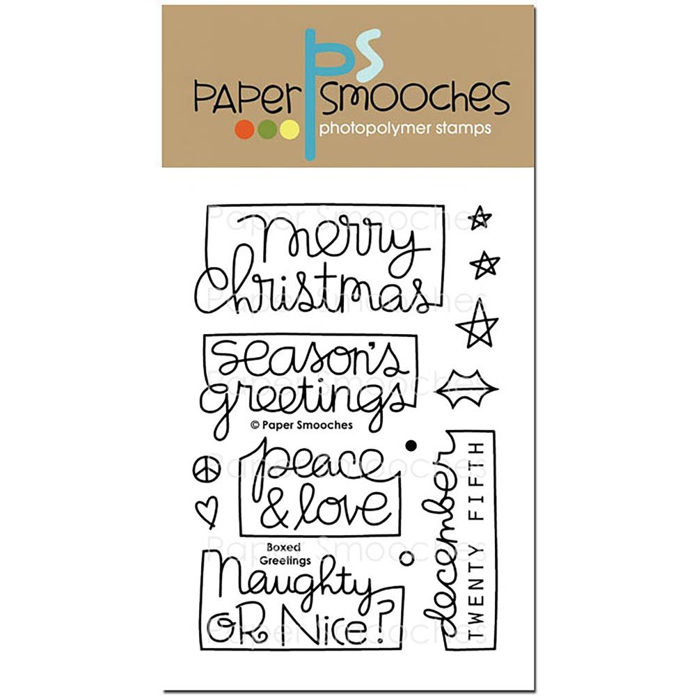 Paper Smooches BOXED GREETINGS Clear Stamps OCS296* zoom image