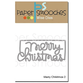 Paper Smooches MERRY CHRISTMAS 2 Wise Dies OCD410*