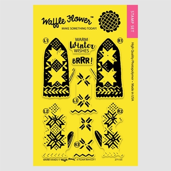 Waffle Flower WARM HANDS Clear Stamp Set 271135