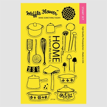Waffle Flower HOME MADE Clear Stamp Set 271134