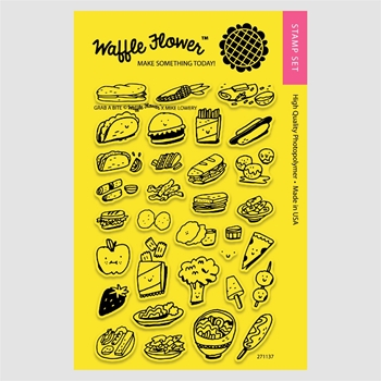 Waffle Flower GRAB A BITE Clear Stamp Set 271137