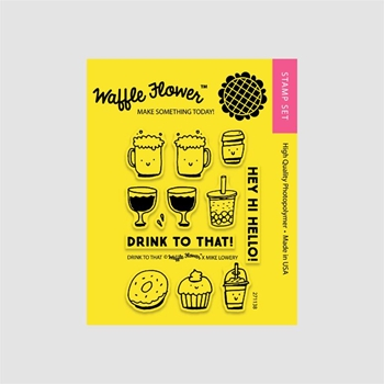Waffle Flower DRINK TO THAT Clear Stamp Set 271138