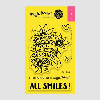 Waffle Flower LITTLE SUNSHINE Clear Stamp Set 271139