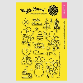 Waffle Flower COLD HANDS Clear Stamp Set 271131