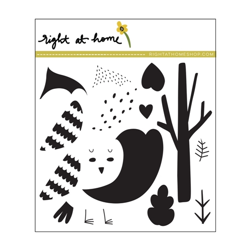 Right At Home COZY CARDINAL Clear Stamp 688821 Preview Image