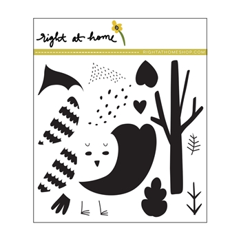Right At Home COZY CARDINAL Clear Stamp 688821