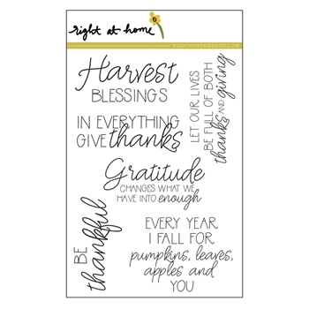 Right At Home BE THANKFUL Clear Stamp 688807