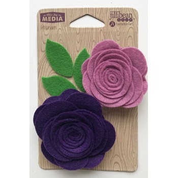 Jillibean Soup POCKET OF PURPLE Felt Flowers jb1432