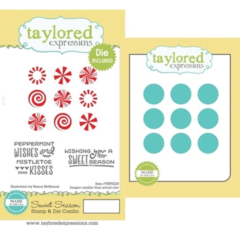 Taylored Expressions SWEET SEASON Cling Stamp and Die Combo TEPS229