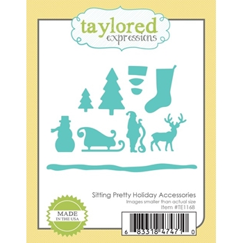 Taylored Expressions SITTING PRETTY HOLIDAY ACCESSORIES Die Set TE1168