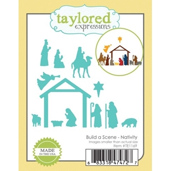 Taylored Expressions BUILD A SCENE NATIVITY Die Set TE1169