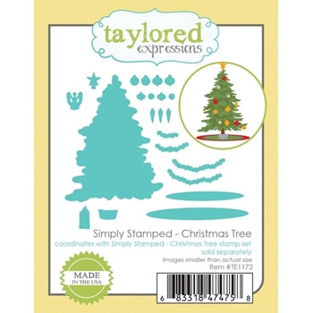 Taylored Expressions SIMPLY STAMPED CHRISTMAS TREE Die Set TE1172