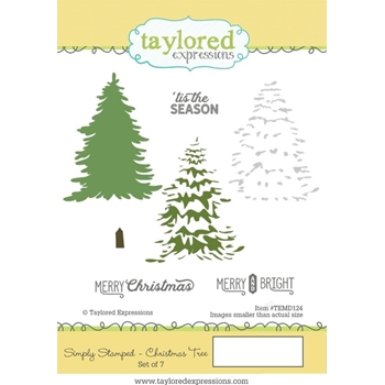 Taylored Expressions SIMPLY STAMPED CHRISTMAS TREE Cling Stamp Set TEMD124