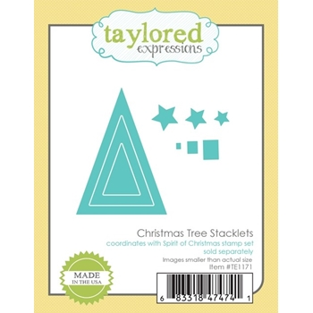 Taylored Expressions CHRISTMAS TREE STACKLETS Die Set TE1171