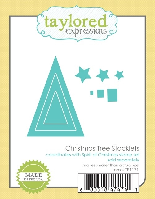 Taylored Expressions CHRISTMAS TREE STACKLETS Die Set TE1171 zoom image