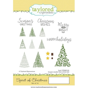 Taylored Expressions SPIRIT OF CHRISTMAS Cling Stamp Set TEMD125