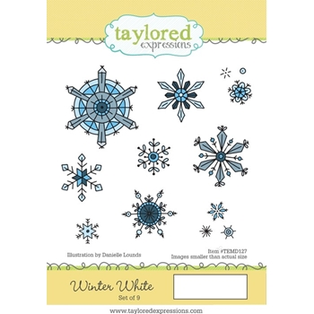 Taylored Expressions WINTER WHITE Cling Stamp Set TEMD127