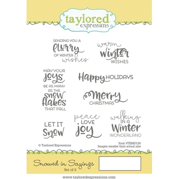Taylored Expressions SNOWED IN SAYINGS Cling Stamp Set TEMD126