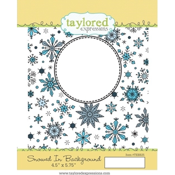 Taylored Expressions SNOWED IN BACKGROUND Cling Stamp Set TEBB25