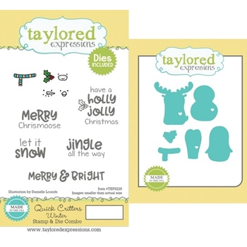 Taylored Expressions QUICK CRITTERS WINTER Cling Stamp and Die Combo TEPS228