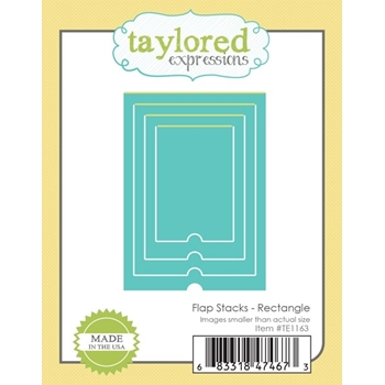 Taylored Expressions FLAP STACKS RECTANGLE Die Set TE1163