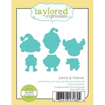 Taylored Expressions SANTA AND FRIENDS Die Set TE1156