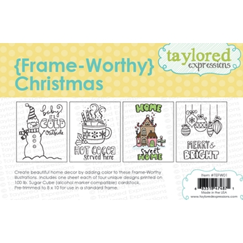 Taylored Expressions FRAME WORTHY CHRISTMAS Printed Designs TEFW01