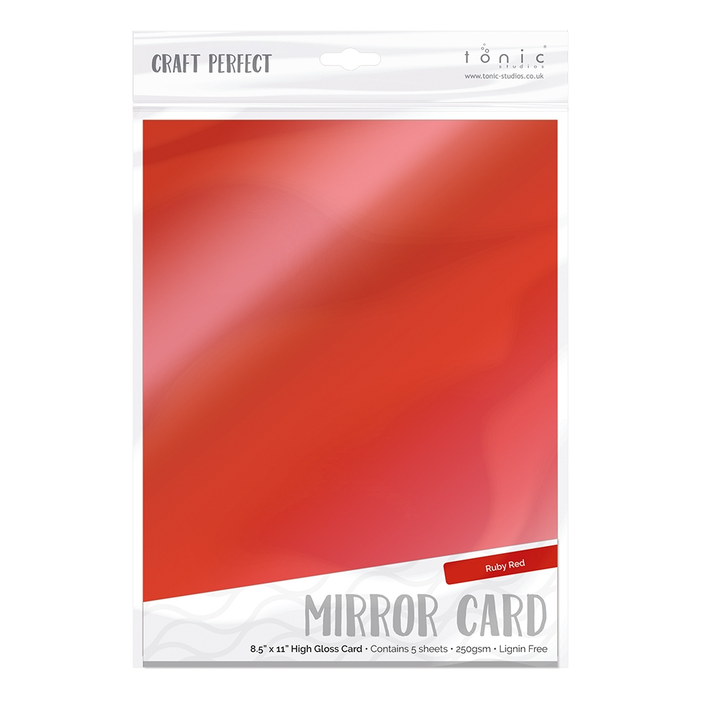 Tonic RUBY RED Mirror Card Gloss Cardstock 9453E