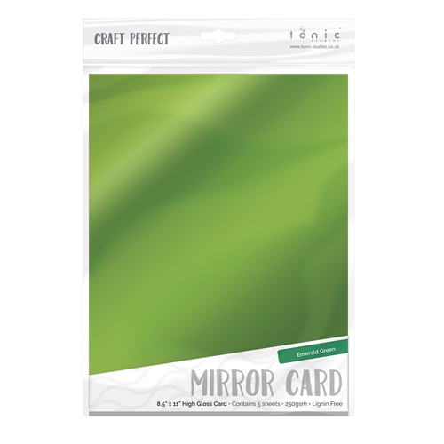 Tonic EMERALD GREEN Mirror Card Gloss Cardstock 9454E Preview Image
