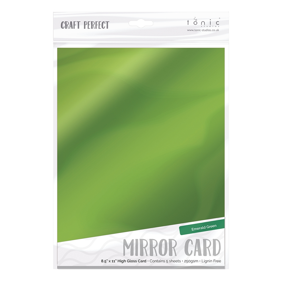 Tonic EMERALD GREEN Mirror Card Gloss Cardstock 9454E zoom image