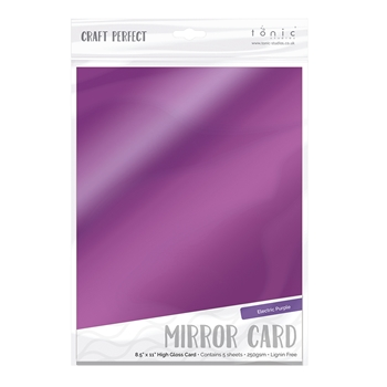 Tonic ELECTRIC PURPLE Mirror Card Gloss Cardstock 9455E