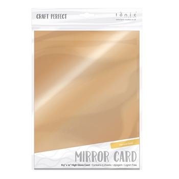 Tonic HARVEST GOLD Mirror Card Gloss Cardstock 9457E