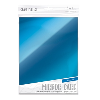Tonic IMPERIAL BLUE Mirror Card Gloss Cardstock 9458E