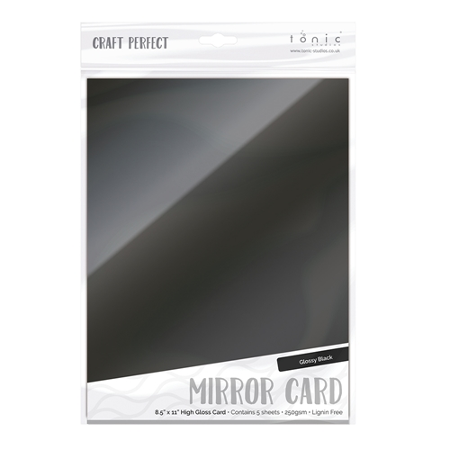 Tonic BLACK Mirror Card Gloss Cardstock 9459E Preview Image