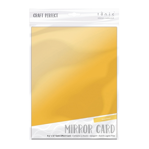 Tonic GOLD PEARL Mirror Card Satin Effect Cardstock 9481E Preview Image