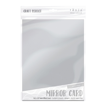 Tonic FROSTED SILVER Mirror Card Satin Effect Cardstock 9482E