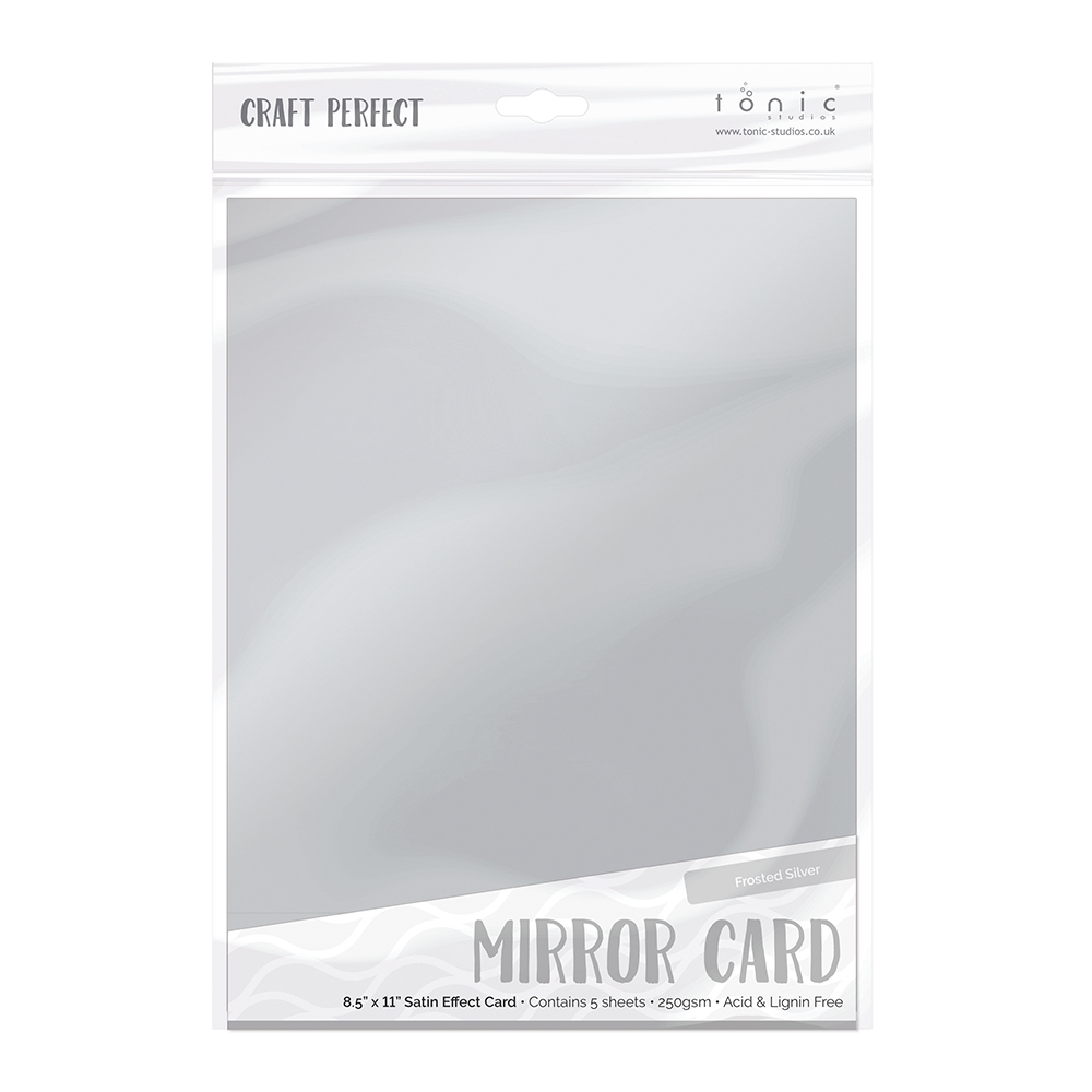 Tonic FROSTED SILVER Mirror Card Satin Effect Cardstock 9482E zoom image