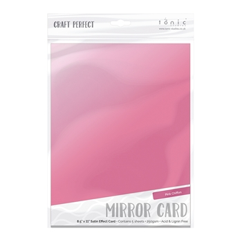 Tonic PINK CHIFFON Mirror Card Satin Effect Cardstock 9483E