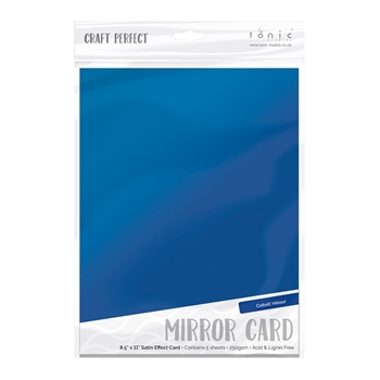Tonic COBALT VELOUR Mirror Card Satin Effect Cardstock 9484E
