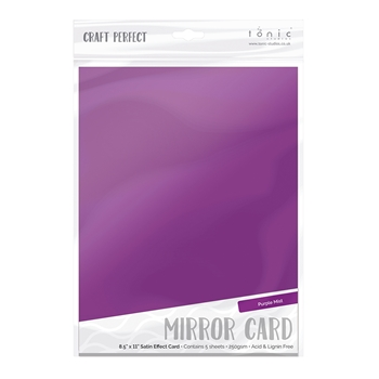 Tonic PURPLE MIST Mirror Card Satin Effect Cardstock 9485E