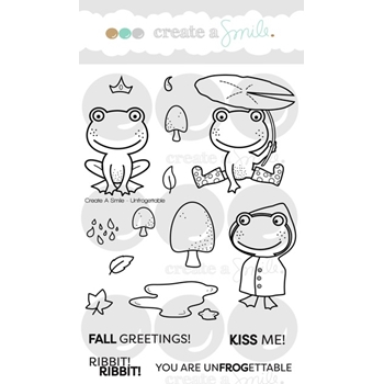 Create A Smile UNFROGETTABLE Clear Stamps CLCS57