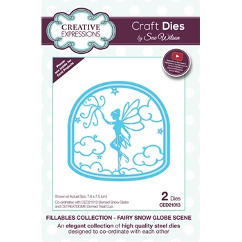 Creative Expressions FAIRY SNOW GLOBE SCENE Sue Wilson Fillables Collection Die Set CED21013