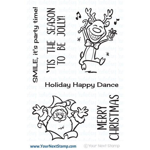 Your Next Stamp BE JOLLY Clear CYNS613 Preview Image